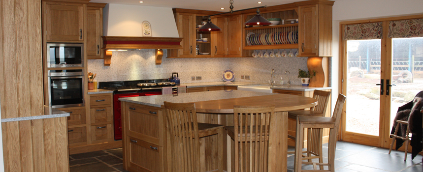 handmade hardwood kitchens Devon